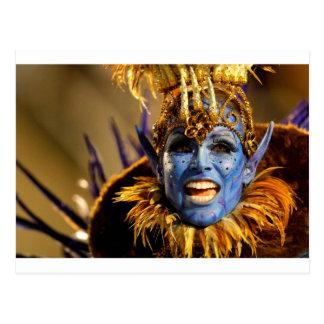 Cartão Postal Demónio do azul da samba de Rio