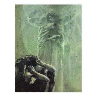 Cartão Postal Demónio e anjo de Mikhail Vrubel- com alma de