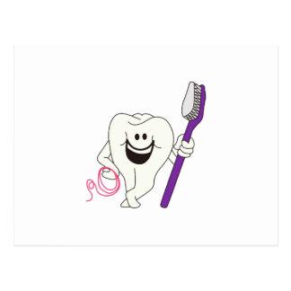 Cartão Postal Dente com escova