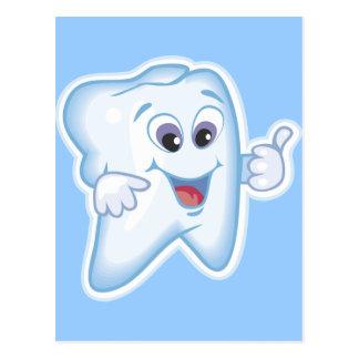Cartão Postal Dentes felizes saudáveis