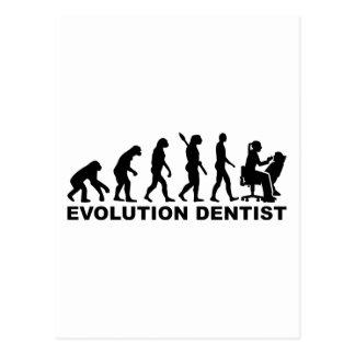 Cartão Postal Dentista da fêmea da evolução