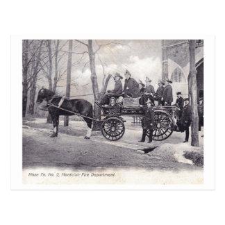 Cartão Postal Departamento dos bombeiros, Montclair, vintage de