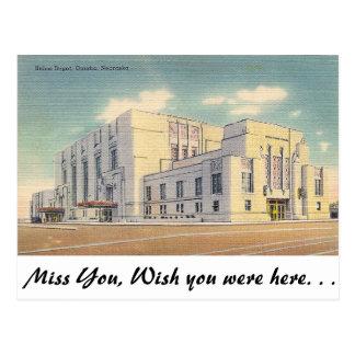 Cartão Postal Depósito da união, Omaha, Nebraska