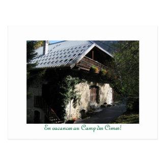Cartão Postal DES Cimes do acampamento do au dos vacances do En!