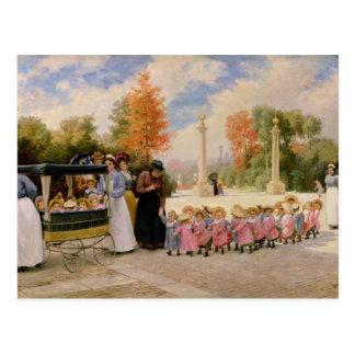 Cartão Postal DES Enfants do passeio