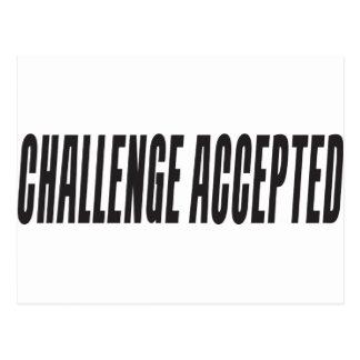 Cartão Postal Desafio aceitado