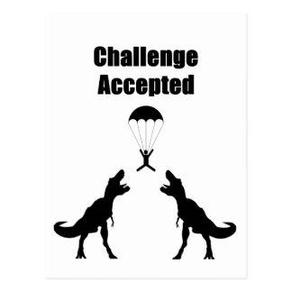 Cartão Postal Desafio de TRex aceitado