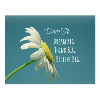 Cartão Postal Desafio inspirado para sonhar citações grandes