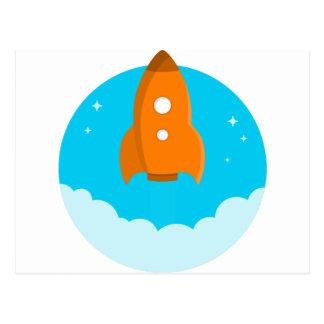 Cartão Postal Descolagem do navio de Rocket