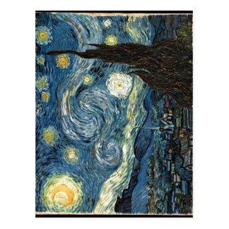 Cartão Postal Descrição a data da noite estrelado Vincent v