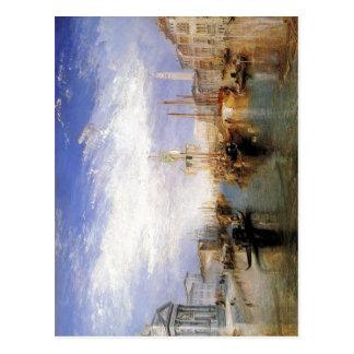 Cartão Postal Descrição o canal grande - Veneza por J.M.W.T