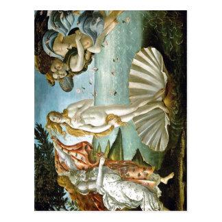Cartão Postal Descrição w: Botticelli o nascimento da data c de