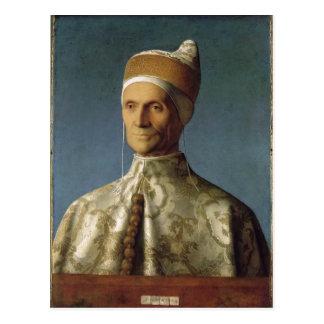 Cartão Postal Descrpition Giovanni Bellini Portr? DES Dogen Leo