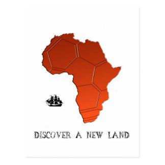 Cartão Postal Descubra a terra nova pelo futebol