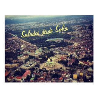 Cartão Postal Desde Sofía de Saludos