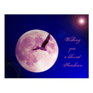 Cartão Postal Desejando lhe um Samhain abençoado