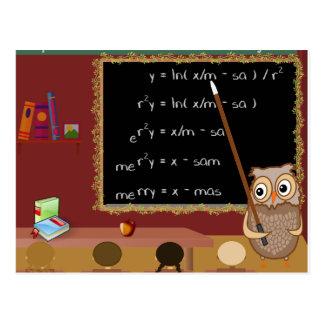 Cartão Postal Desejo do Natal da matemática