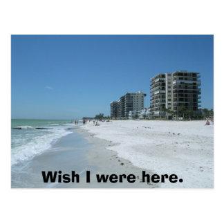 Cartão Postal Desejo eu estava aqui