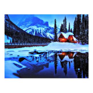 Cartão Postal Desejo invernal do país das maravilhas
