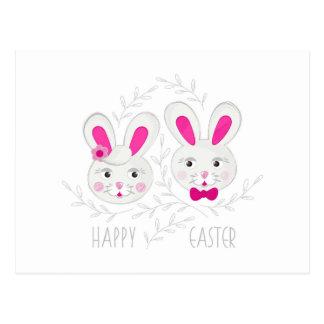Cartão Postal Desejo masculino feminino doce dos coelhos você