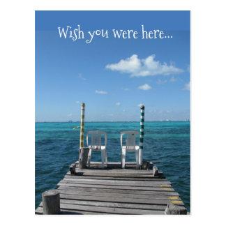 Cartão Postal Desejo você estava aqui…