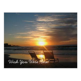 Cartão Postal Desejo você estava aqui! (cartão)