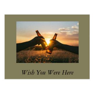 Cartão Postal Desejo você estava aqui compartilhar de uma