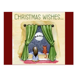 Cartão Postal Desejos do Cartão-Natal