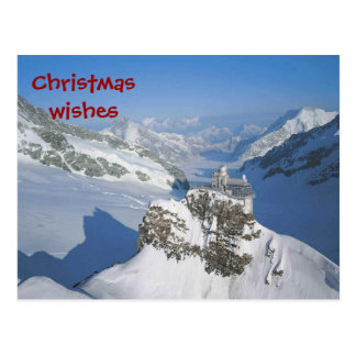 Cartão Postal Desejos do Natal da parte superior de Europa