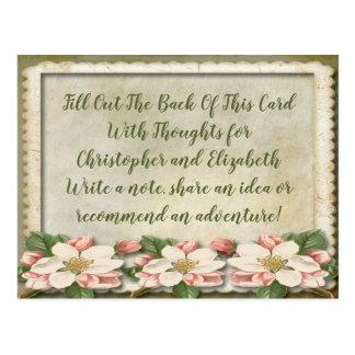 Cartão Postal Desejos do poço do conselho do chá de panela do
