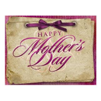 Cartão Postal Desejos felizes do dia das mães