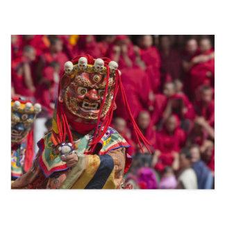 Cartão Postal Desempenho da dança da máscara no festival 3 de
