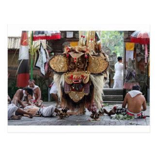 Cartão Postal Desempenho da dança de Barong do Balinese