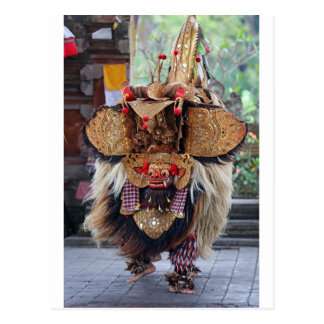 Cartão Postal Desempenho da dança do Balinese Barong e do Kris