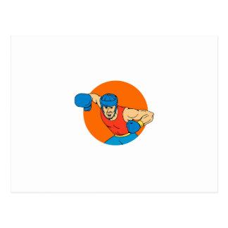 Cartão Postal Desenho aéreo do círculo do perfurador do