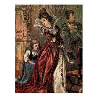 Cartão Postal Desenho do vintage: Cinderella e as irmãs más
