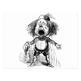 Cartão Postal Desenho engraçado de grito emocional dos desenhos