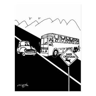 Cartão Postal Desenhos animados 3251 do ônibus
