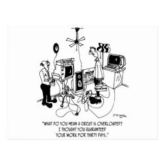Cartão Postal Desenhos animados 4427 do eletricista