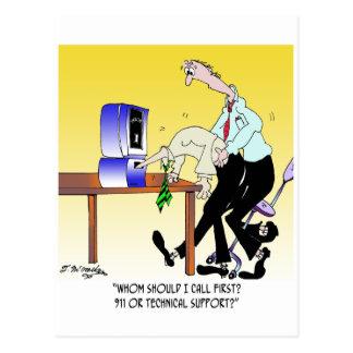 Cartão Postal Desenhos animados 6990 do computador