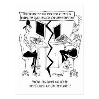 Cartão Postal Desenhos animados 8035 do computador