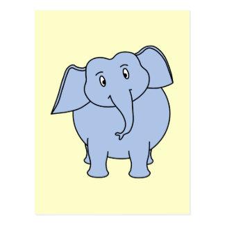 Cartão Postal Desenhos animados azuis bonitos do elefante