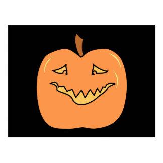 Cartão Postal Desenhos animados da abóbora do Dia das Bruxas