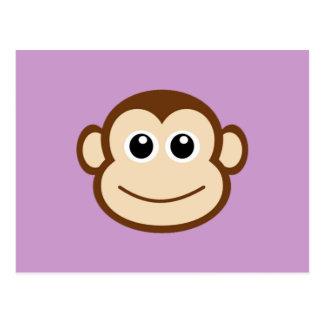 Cartão Postal Desenhos animados da cara do macaco