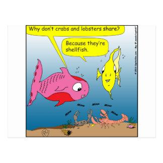 Cartão Postal desenhos animados de 441 mariscos