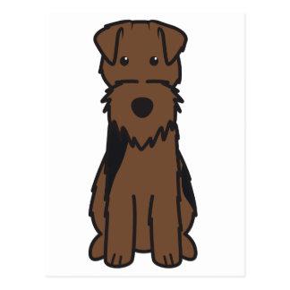 Cartão Postal Desenhos animados do cão de galês Terrier