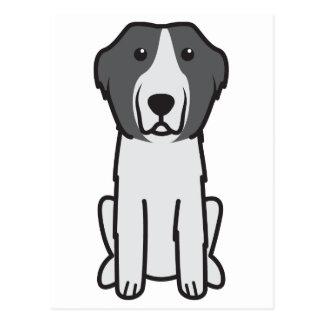 Cartão Postal Desenhos animados do cão de Landseer