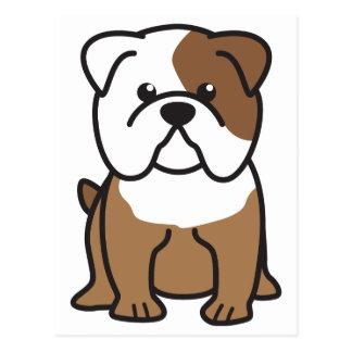 Cartão Postal Desenhos animados do cão do buldogue