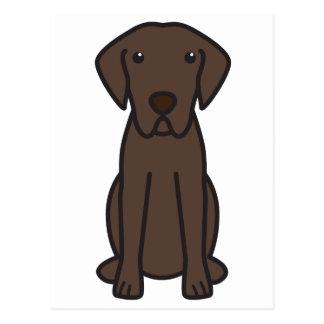 Cartão Postal Desenhos animados do cão do Retriever de baía de