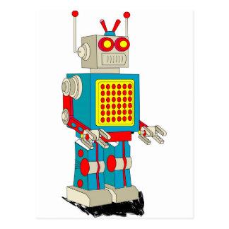 Cartão Postal Desenhos animados do caráter do robô
